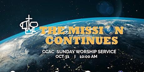 CCAC ONLINE WORSHIP SERVICE  I  OCT  31  I   10:00 AM tickets