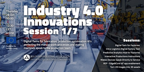 European's Best-Performing Industry 4.0 Innovations tickets