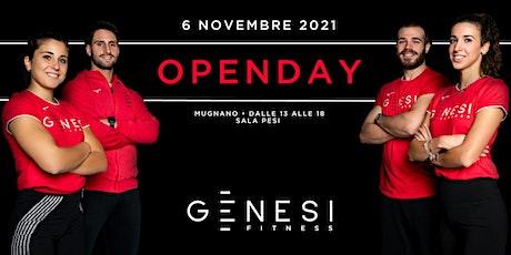 Open day Genesi Mugnano - Sala Pesi Pomeriggio biglietti