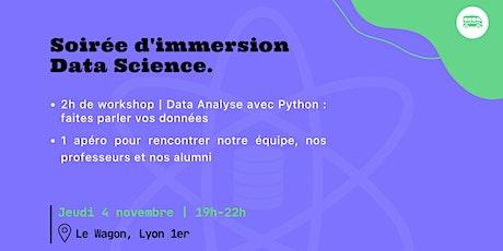 Soirée d'immersion en Data Science au Wagon Lyon billets