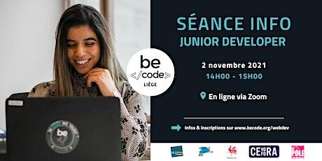 BeCode Liege -  Info Session Junior Developer billets