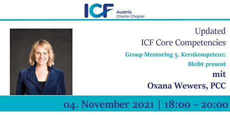 Updated  ICF Core Competencies: Group Mentoring  5.Competence tickets