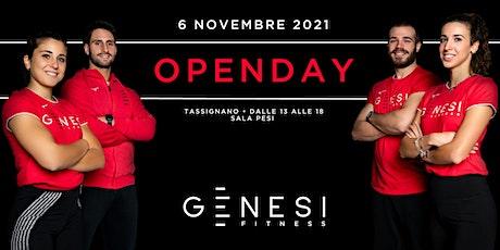 Open Day Genesi Tassignano - Sala Pesi Pomeriggio biglietti