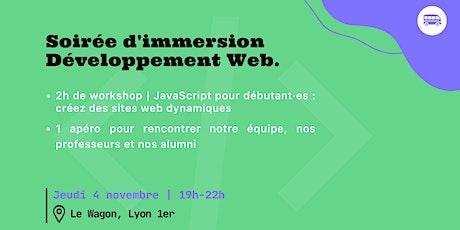 Soirée d'immersion en Développement Web au Wagon Lyon billets