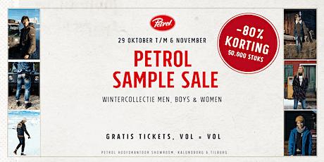 SAMPLE SALE | 29-10 t/m 06-11 | Petrol Industries | Tilburg tickets