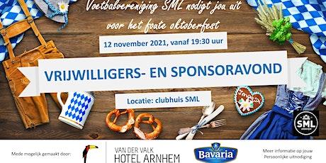 Vrijwilligers- en sponsoravond 12 november tickets