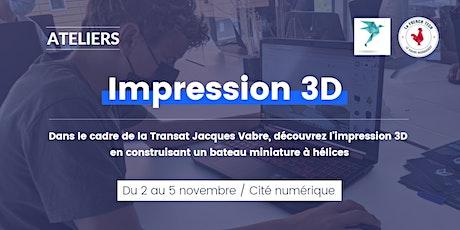 Atelier Impression 3D dans le cadre de la Transat Jacques Vabre billets