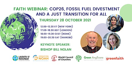 COP26, Fossil Fuel Divestment and a Just Transition for All tickets