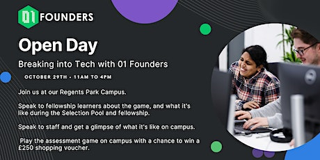 01 Founders Open Day // London's Free Coding School with Job Guarantee tickets
