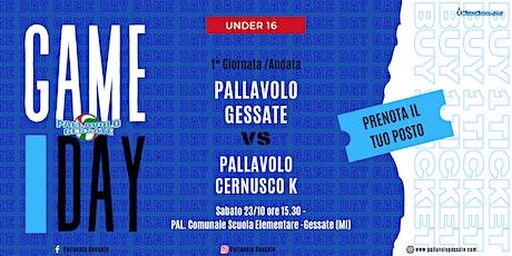 Campionato under 16 - Pallavolo Gessate vs Pallavolo Cernusco biglietti