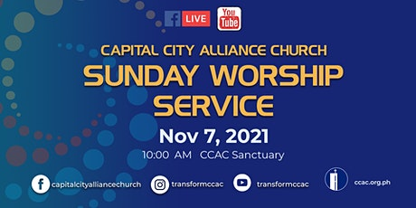 CCAC WORSHIP SERVICE  I  NOV 7  I   10:00 AM tickets