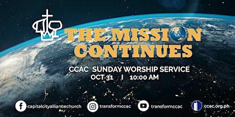 CCAC  WORSHIP SERVICE  I  OCT  31  I   10:00 AM tickets