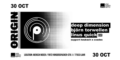 The ORIGIN w/Björn Torwellen, Deep Dimension, Linus Quick billets