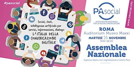 Assemblea Nazionale PA Social - L'Italia della comunicazione digitale biglietti