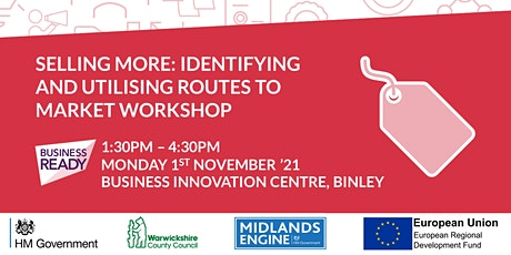 Selling More - Identifying and Utilising Routes to Market Workshop tickets