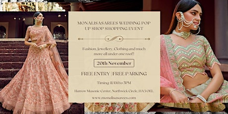 Monalisasarees wedding Pop up Shop Shopping Event tickets