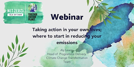 Taking action in your own lives; where to start in reducing your emissions tickets
