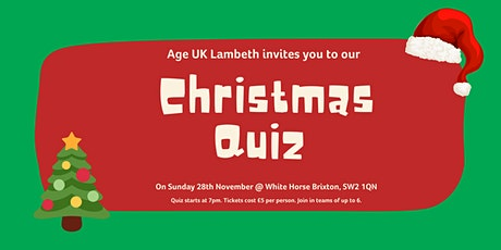 Age UK Lambeth's Christmas Quiz tickets