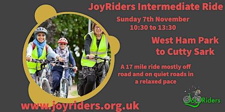 Intermediate Women's Bike Ride  West Ham Park to Cutty Sark tickets
