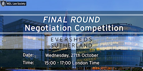 Eversheds Negotiation Final Round tickets