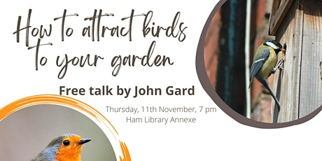 How to attract birds to your garden tickets