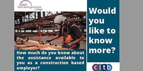 Construction employers: The assistance available to you tickets