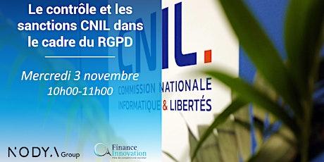 Le contrôle et les sanctions CNIL dans le cadre du RGPD billets