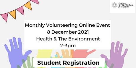 STUDENT REGISTRATION Online Volunteering Event December:  focus Health tickets