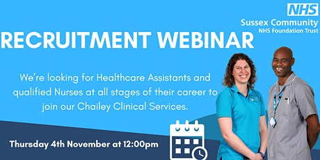 Copy of Recruitment webinar for  Staff Nurses and Healthcare Assistants tickets