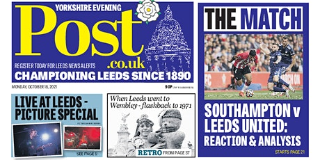 Yorkshire Evening Post Post First Class New Starter's Edition tickets
