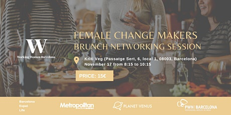 Female Change Makers: brunch networking session tickets