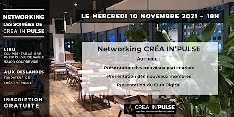 After-work Créa In'Pulse MER 10 NOV - La Défense,  L'Eclipse The Table Bar billets