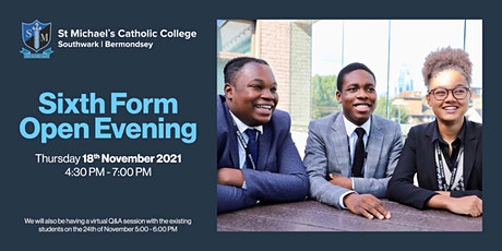 St Michael's Catholic College Sixth Form Open Evening  2021 tickets