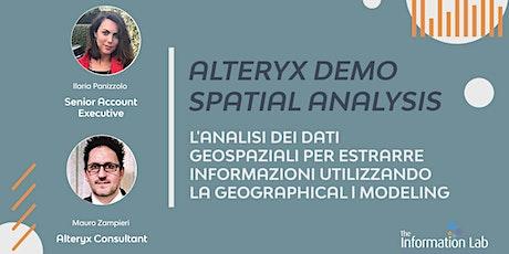Alteryx Demo | Spatial Analysis biglietti