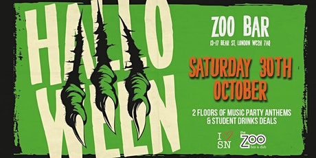 Halloween at Zoo Bar // Saturday 30th // Open till 3AM // Drink deals and M tickets