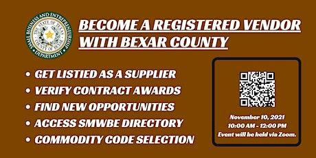 Bexar County SMWBE CDMS Workshop - November 2021 tickets