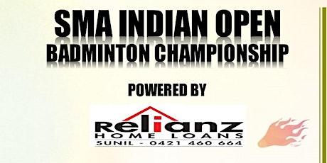 SMA Indian Open Badminton Championship tickets