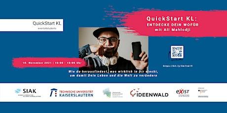 ENTDECKE DEIN WOFÜR - Mit Ali Mahlodji von WATCHADO Tickets