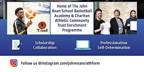 The John Roan School Sixth Form Open Evening tickets