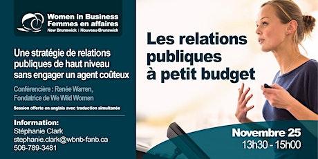 Les relations publiques à petit budget billets
