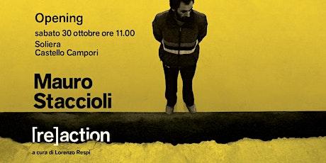 Mauro Staccioli [re]action - Presentazione del curatore biglietti