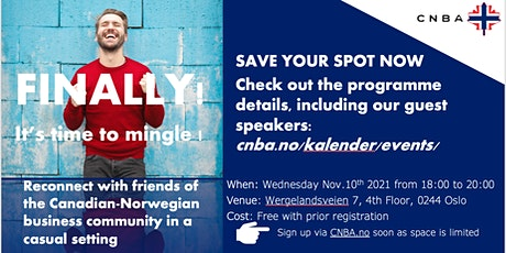 Canadian-Norwegian Business Association networking event! SIGN UP NOW tickets