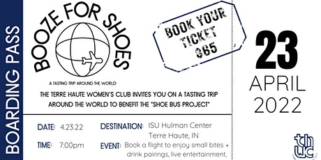 Booze for Shoes: A Tasting Trip Around the World tickets