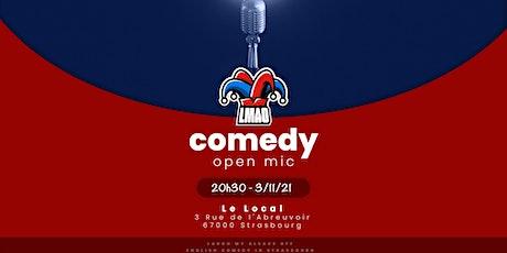 LMAO English standup open mic - November 3 billets