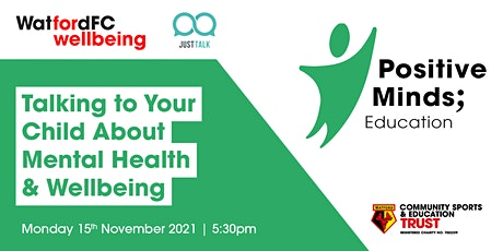 Talking to your Child about Mental Health and Wellbeing tickets