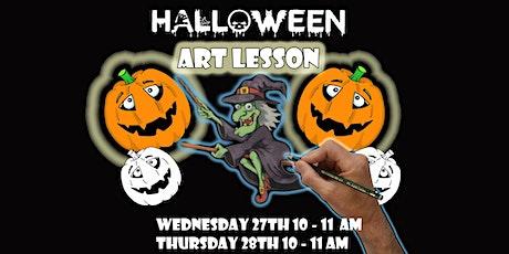 Halloween Art Lesson. tickets