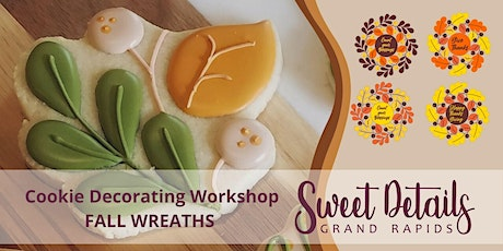 Fall Wreath Cookie decorating Workshop tickets