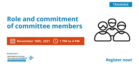 Role and commitment of committee members. tickets