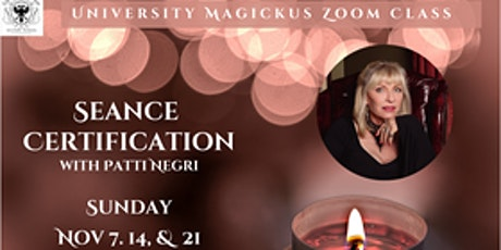 Seance Course with Patti Negri, Free for university magickus members tickets
