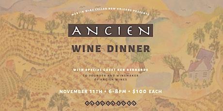 Ancien Wine Dinner tickets